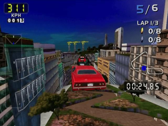 San Francisco Rush 2049 Dreamcast-jogo em curso!