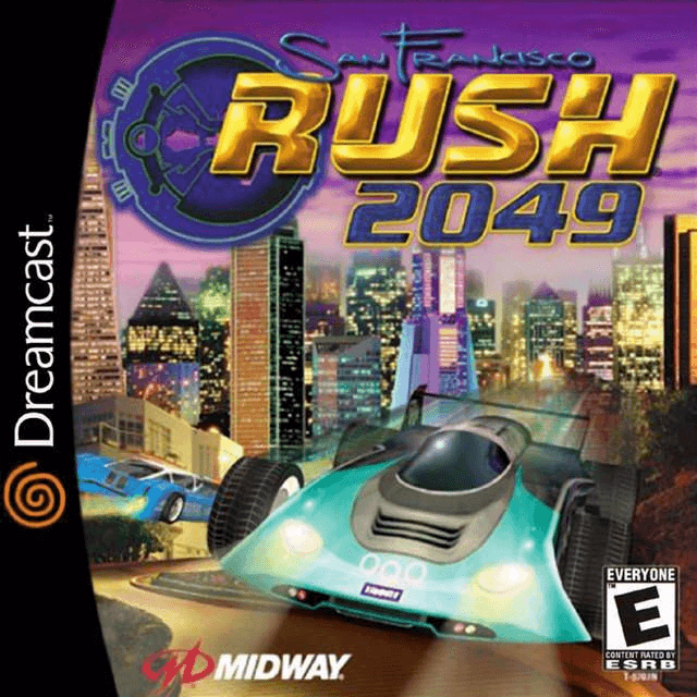 San Francisco Rush 2049 Dreamcast-cover game!