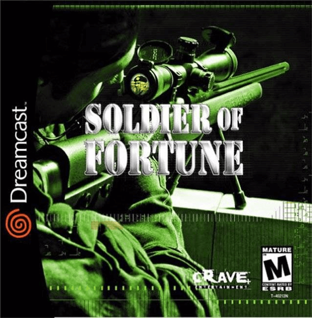 Soldier of Fortune Dreamcast, cover game; capa de jogo!