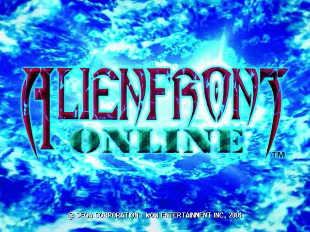 Alien Front Online Dreamcast, tela de menu do game!