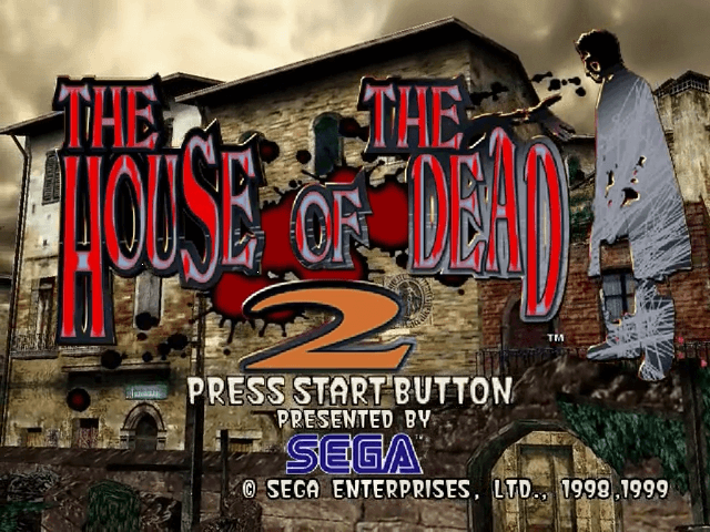 The House of the Dead 2 Dreamcast-titulo do game!