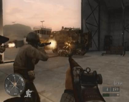 Call of Duty 2 BIG RED ONE-imagem do GameCube Game