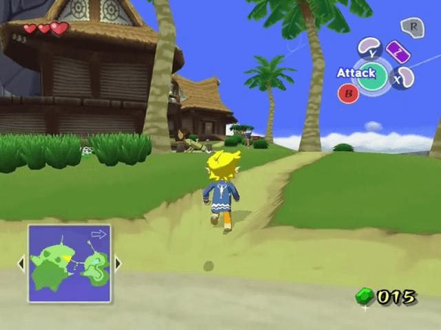 The Legend of Zelda: The Wind Waker, tela de titulo Gamecube.