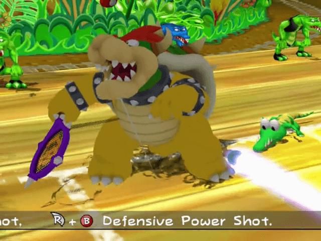 Mario Power Tennis Gamecube-Browser in game!