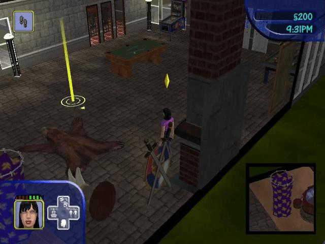 The Sims, GameCube jogo em curso