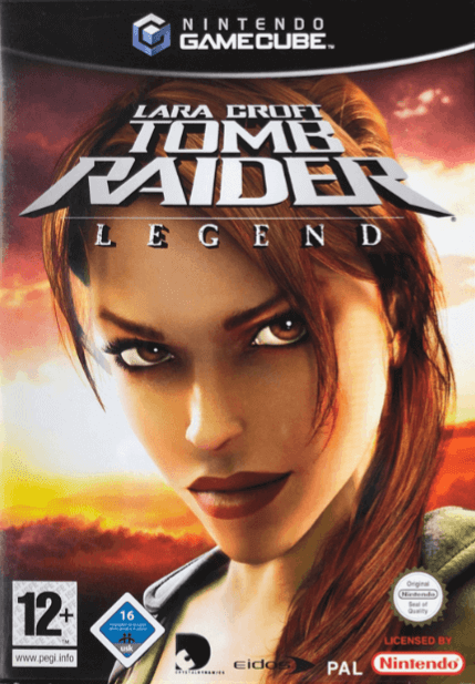Lara Croft Tomb Raider: Legend gamecube-cover game!