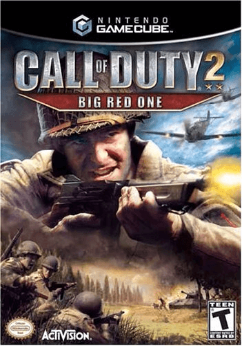 Call of Duty 2 BIG RED ONE-cover/capa GameCube.