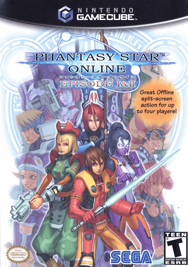 Phantasy Star Online Episode I & II Gamecube-cover game