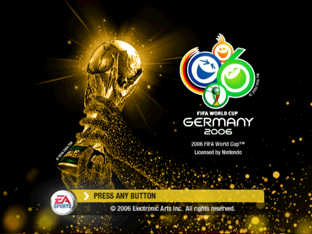 FIFA World Cup: Germany 2006, tela de titulo gamecube.