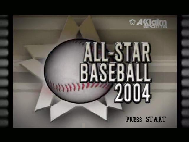 All-Star Baseball 2004-tela de titulo game gamecube