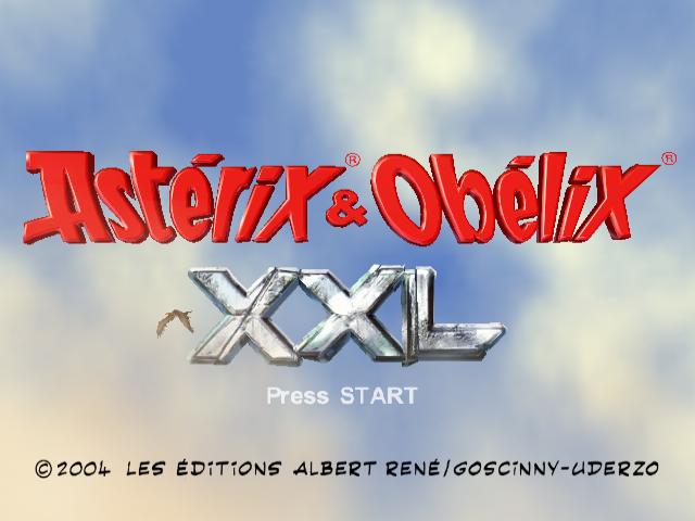 Asterix & Obelix XXL Nintendo Gamecube-Title game/ tela de game!