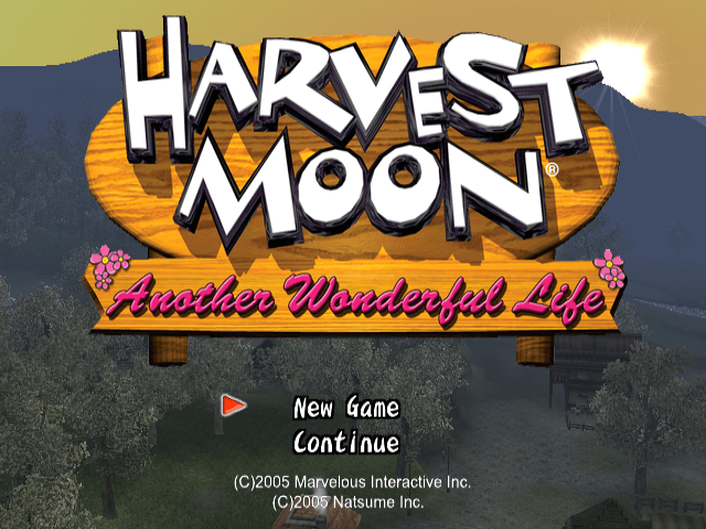 Harvest Moon: A Wonderful Life Gamecube-tittle game!
