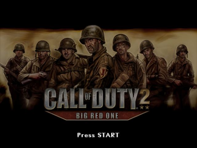 Call of Duty 2 BIG RED ONE-Tela de Titulo GameCube Game.