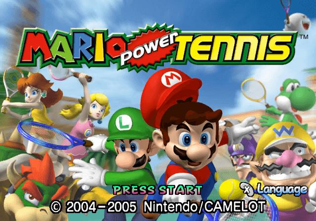 Mario Power Tennis Gamecube-tela de titulo/tittle game!