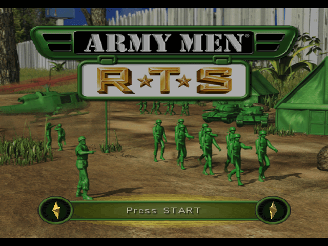 Army Men RTS: Real Time Strategy GC- tela de titulo/ title game!