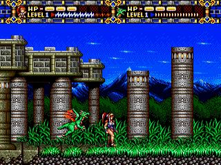 Alisia Dragoon Sega Genesis, game em curso