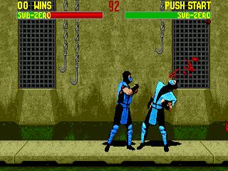 Mortal Kombat II Sega Genesis- Sub-zero VS Sub-zero in batlle!