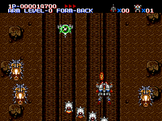 Musha (Aleste) Sega MegaDrive-jogo em curso!