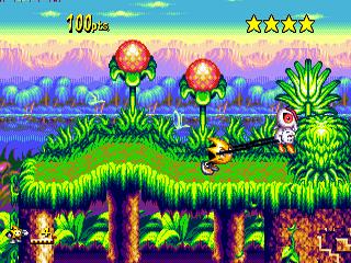 Ristar Sega Megadrive-jogo em curso!