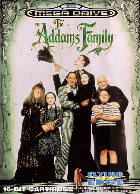 The Addams Family Sega MegaDrive, cover game/ capa do jogo no sega genesis!