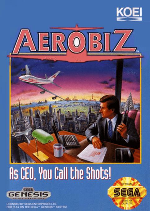 Aerobiz Sega Megadrive, capa do jogo!