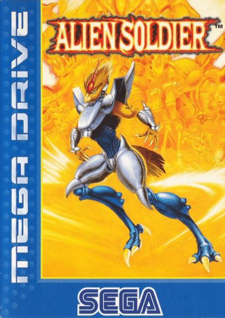 Alien Soldier Sega MegaDrive-cover game!