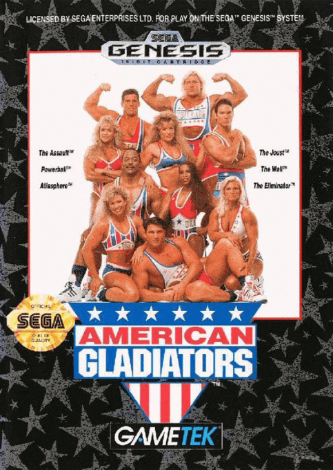 American Gladiators, cover game sega megadrive