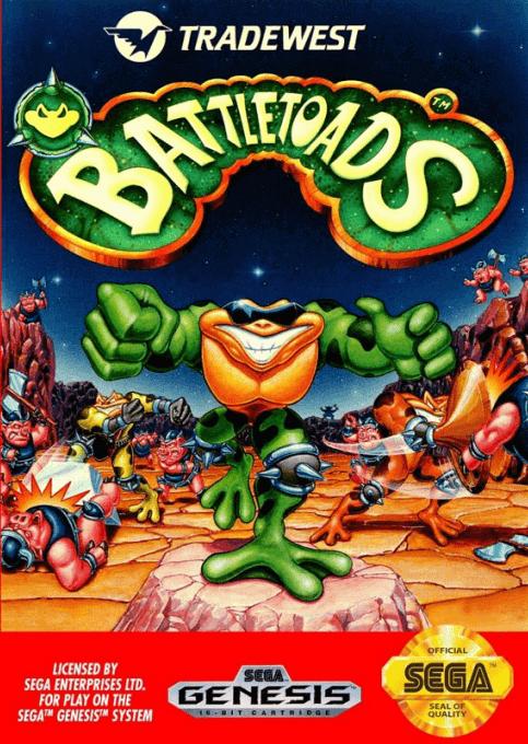 Battletoads Sega Mega Drive-cover game/capa de jogo!