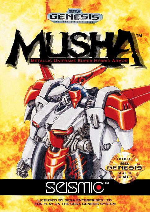 Musha (Aleste) Sega MegaDrive-cover game!