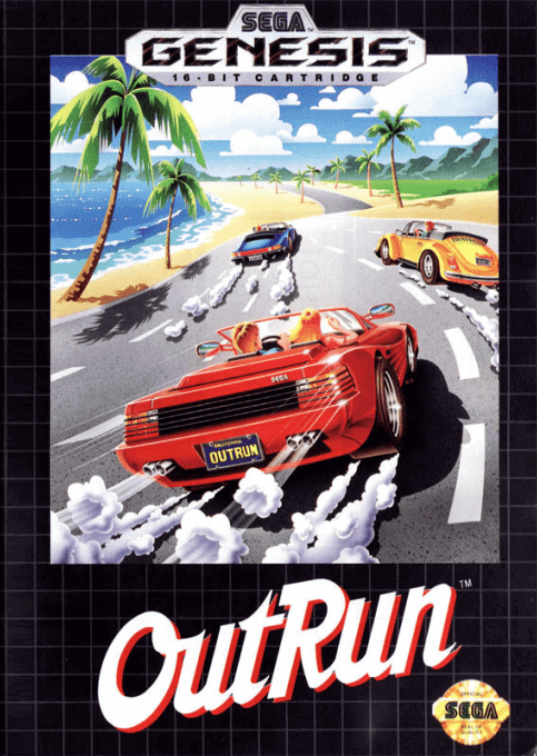 OutRun Sega Genesis-cover game