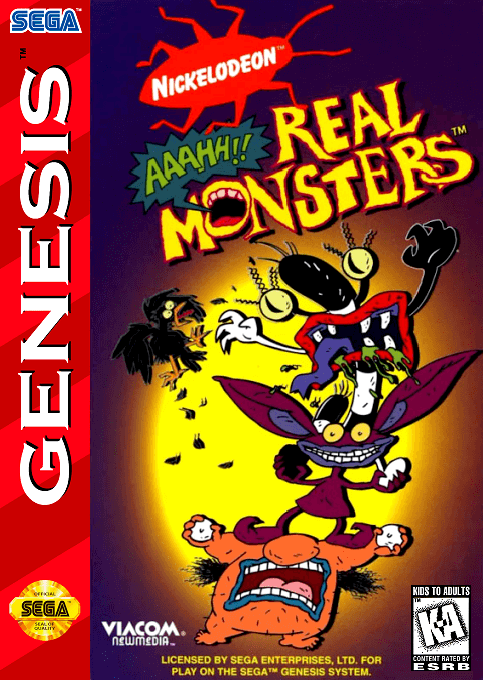 Aaahh Real Monsters Mega Drive-COVER GAME