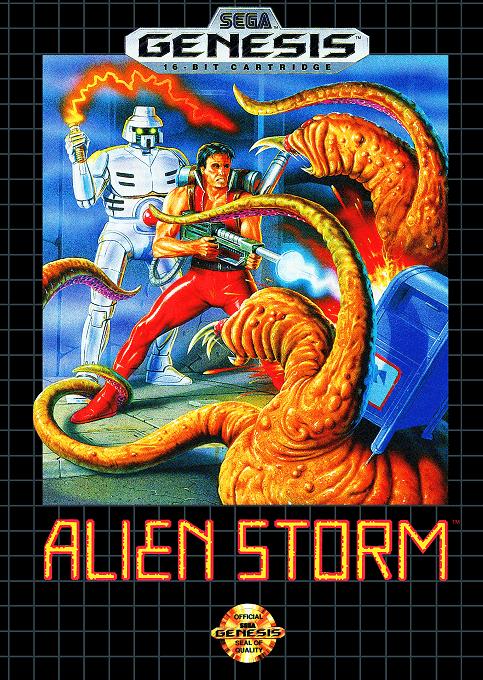 Alien Storm-cover, sega genesis