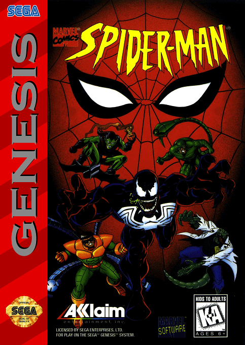 Spider-Man: The Animated Series-cover game sega megadrive