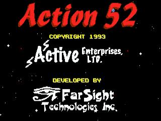 Action 52 Sega MegaDrive, tela de titulo/ title game