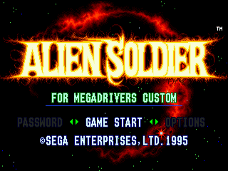 Alien Soldier Sega MegaDrive.