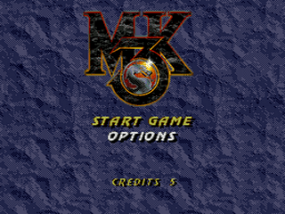 Mortal Kombat III Sega Mega Drive-tela de titulo/title game!