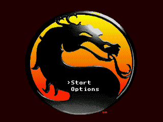 Mortal Kombat II Sega Genesis, tela de titulo/ titlle game!