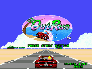 OutRun Sega Genesis-jogo em curso!