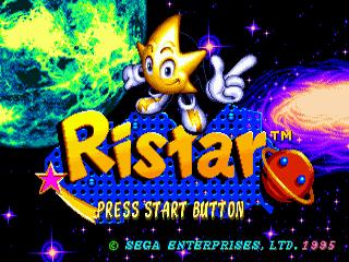 Ristar Sega Megadrive-title game!