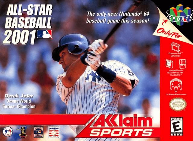 All-Star Baseball 2001 Nintendo 64-cover game N64