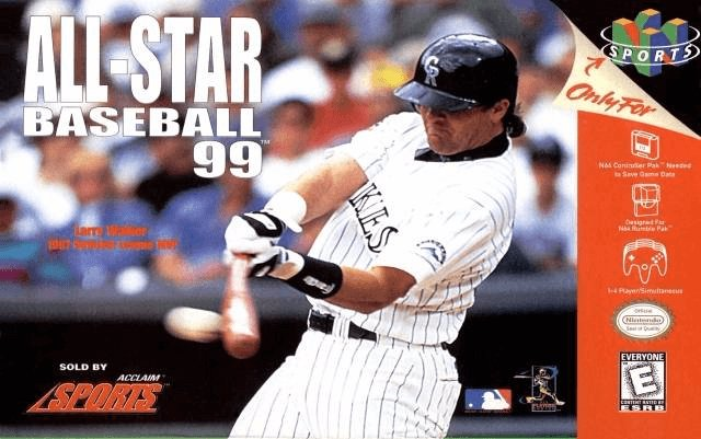 All-Star Baseball '99 N64-cover game