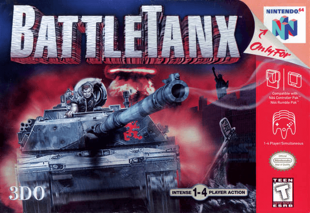 BattleTanx Nintendo 64, cover game/ capa do jogo!