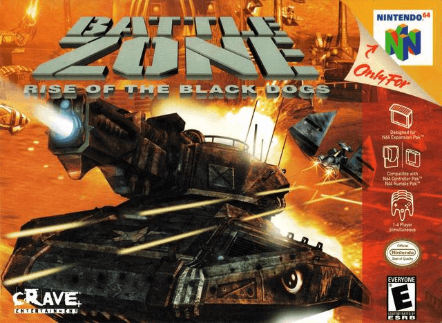 Battlezone: Rise of the Black Dogs N64-capa game!
