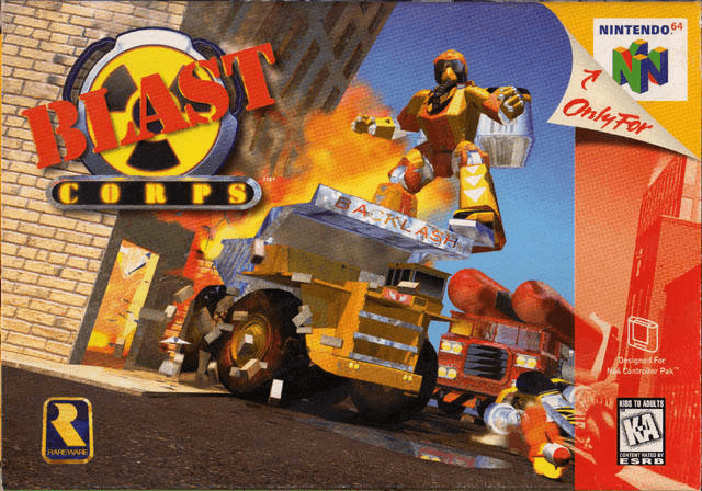 Blast Corps-top jogos do nintendo 64-best game 64