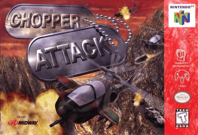 Chopper Attack N64 cover game