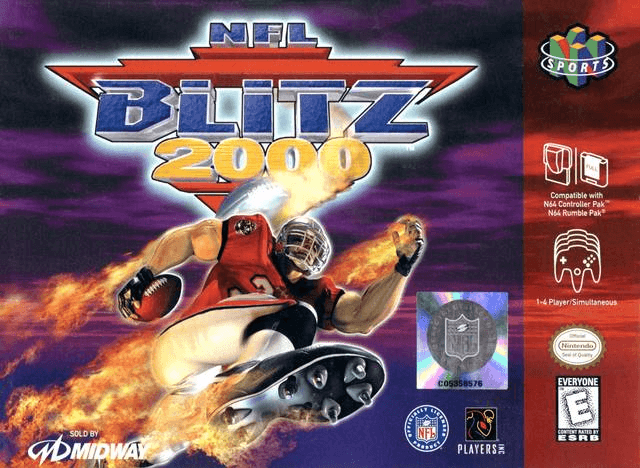 NFL Blitz 2000-cover game best n64