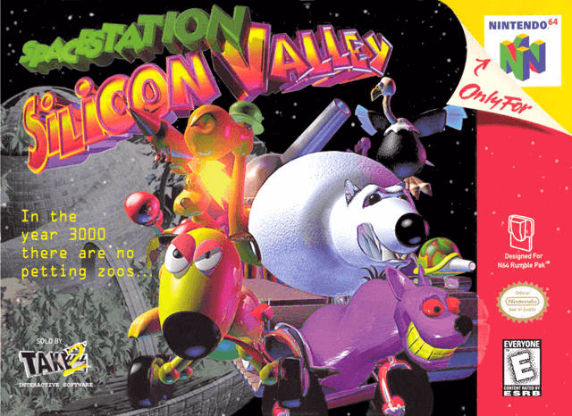 Space Station Silicon Valley-cover game/top game n64