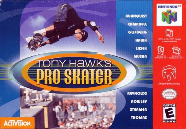 Tony Hawk's Pro Skater N64--cover game