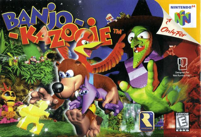 Banjo-Kazooie N64 c0ver game