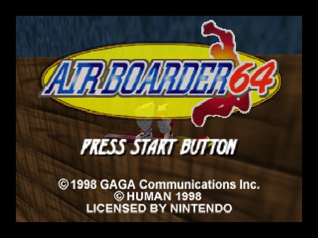 Air Boarder 64 (Game Cancelado EUA)